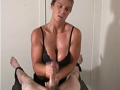 Blonde, Fetish, handjobs, Lactating Boobs, Breast Milk, Milking Table, Oil Threesome, Under Table, Perfect Body Amateur Sex