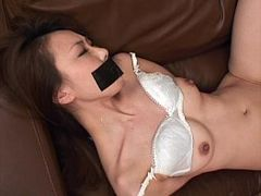 Gagged, Extreme Deep Throat Fuck, at Work, Perfect Body