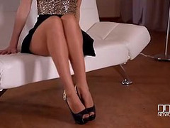 Teasing Foreplay, Pantyhose, solo Girl, Tease and Denial Orgasm, Single Masturbating