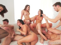Threesome, Orgy, Perfect Body Amateur Sex